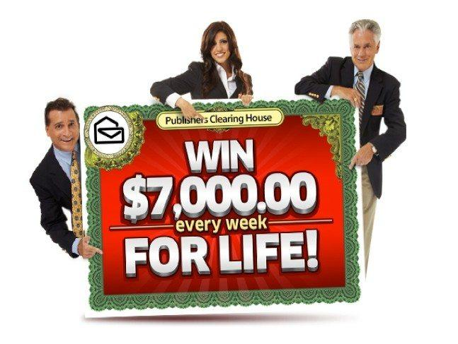 publishers clearing house giveaway publishers clearing house sweepstakes quot win 7000 a week 5575