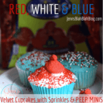 RED WHITE BLUE 150x150 Chocolate Covered Strawberry Cupcake Recipe   Must Try #Recipe