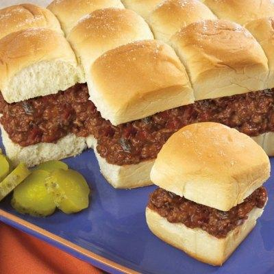 Sloppy Joe Slider Pull Aparts super bowl recipes
