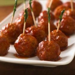 Sweet and Savory Saucy Meatballs