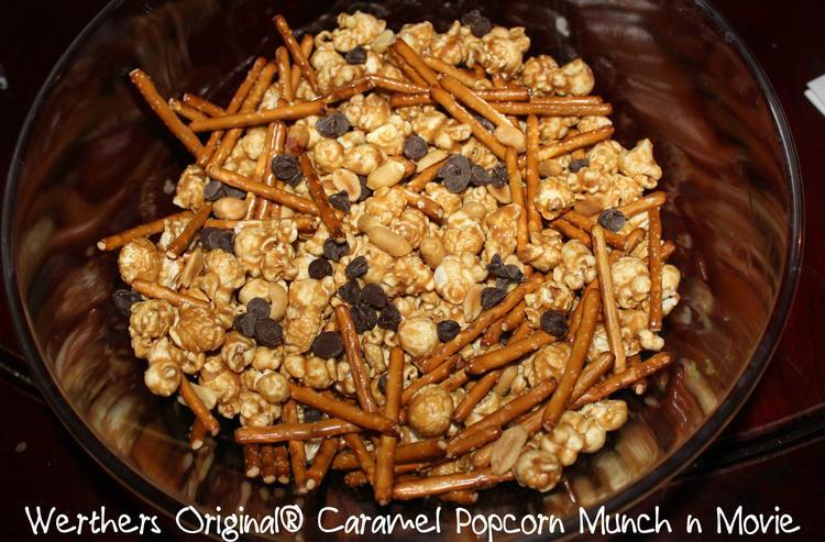 Werther's Caramel Popcorn Snack Mix Recipe, Family and Fun! #WerthersPopcornParty