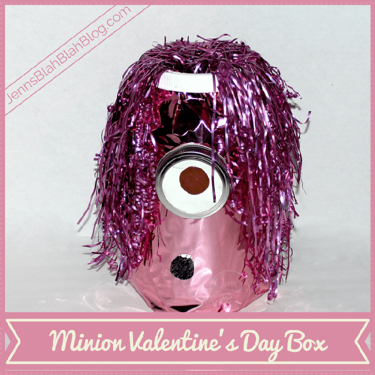 Pink Minion Valentine's Day Box Craft For Kids