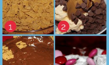 Valentine's Day Recipes: How To Make Valentines Day Muddy Buddies!