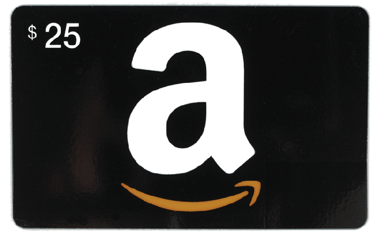 $25 Amazon Gift Card that is black