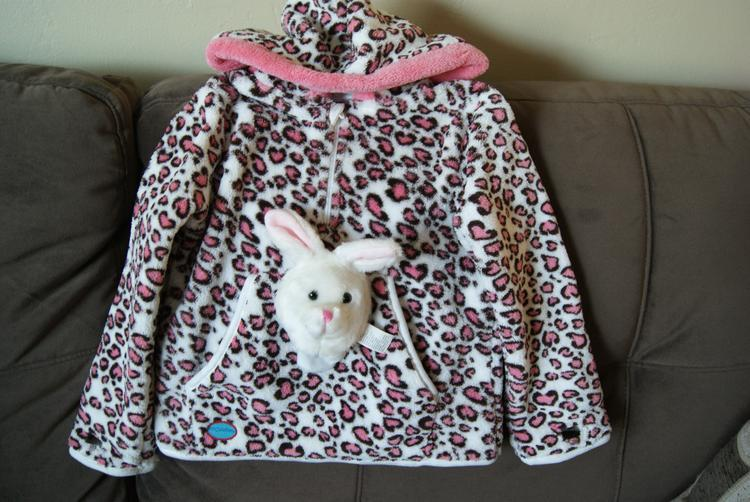 kids hoodie with kitty on the front