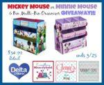#Giveaway: Enter To #Win Minnie or Mickey Organizer!