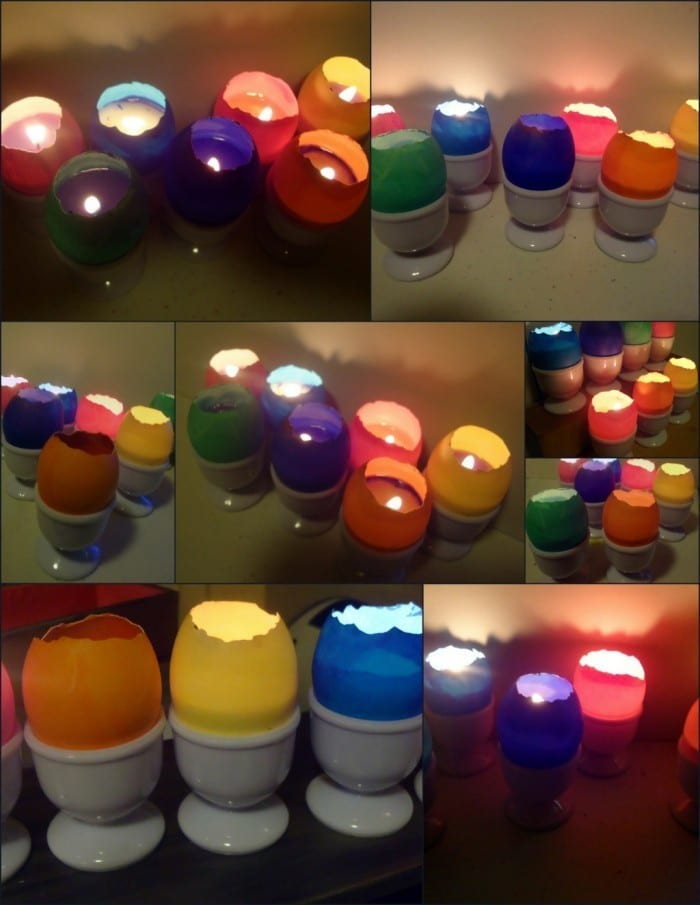eggshell candles 700x905 Twelve Easter Crafts, Decorating Ideas, and DIY Fun!