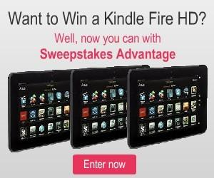 three kindle fire hd on giveaway button