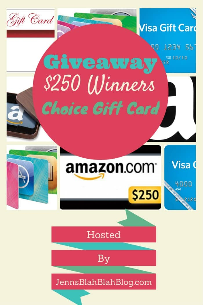 Winner Picks 250 Gift Card Giveaway Jenns Blah Blah Blog