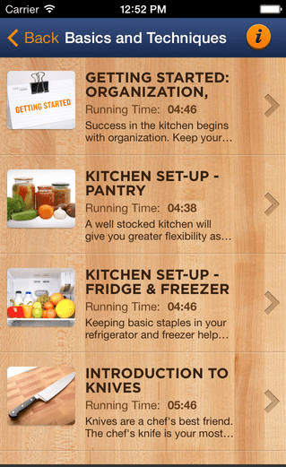 learn to cook with your iphone