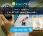 LearnVest is having a $1000 Summer #Sweepstakes