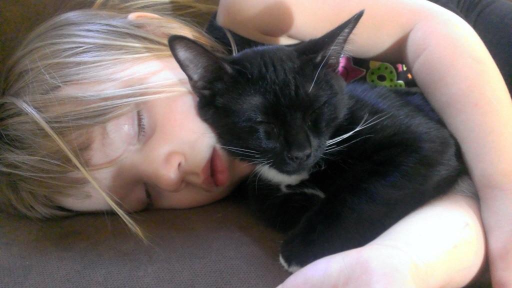 Mattie and her kitty