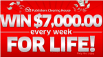 Publishers Clearing House – Win $7000 a Week For Life Sweepstakes