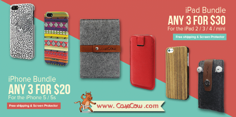 case cow iphone case sale and ipad case sale banner