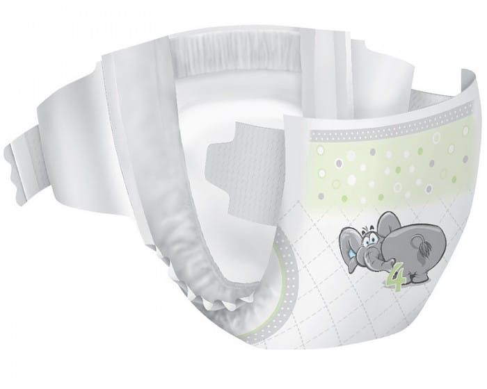 affordable diaper with cute elephant on the front by well beginnings