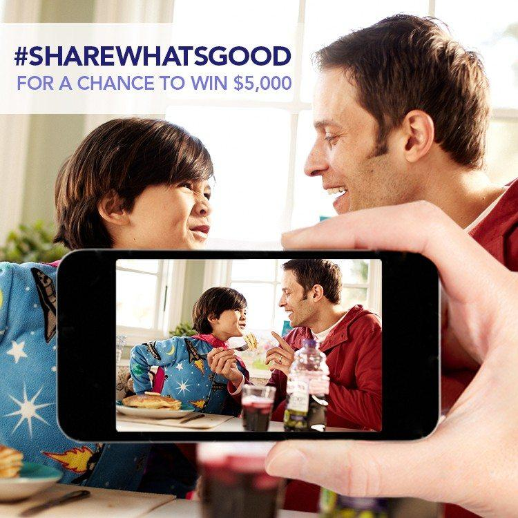 share what's good win $5000