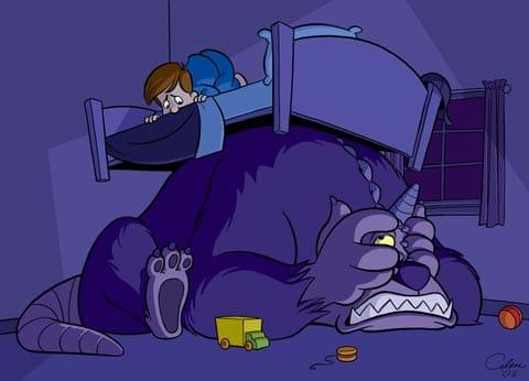 sweet bottomsmonster under bed Scared of the Dark? 5 Tips To Help Your Child Sleep Better At Night.