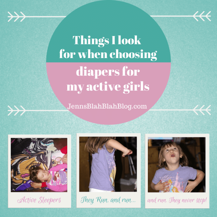 Things I Look For When Choosing Disposable Diapers For My Active Girls banner