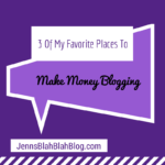 three of my favorite places to make money blogging 150x150 Five Interesting and Creative Photography Ideas