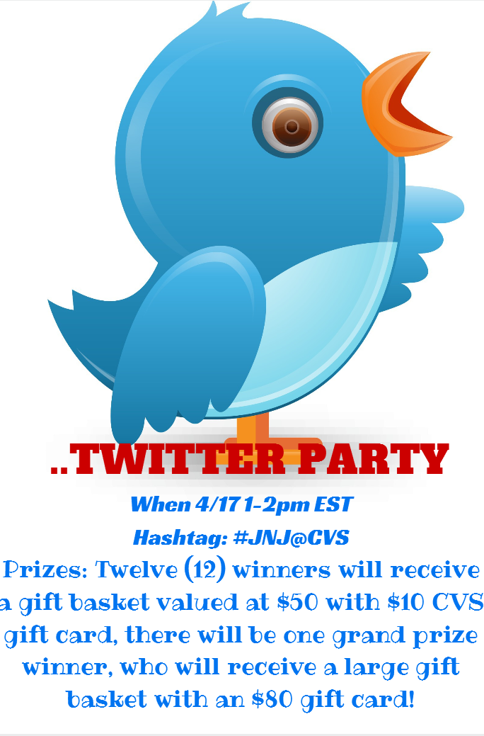 Do Nost Miss The #JNJ@CVS Twitter Party! GREAT Prizes! 1