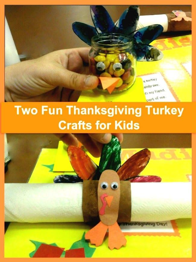 two fun thanksgiving turkey crafts for kids