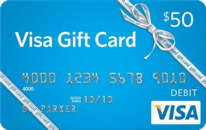 visa gift card for $50