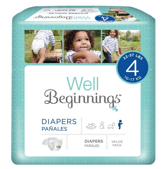 Well Beginnings disposable diapers from walgreens