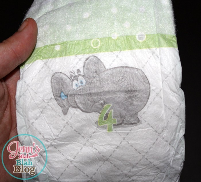 well beginnings diapers with elephant on the front