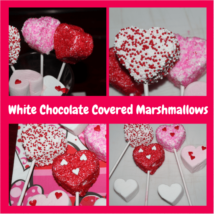 white chocolate covered marshmallows