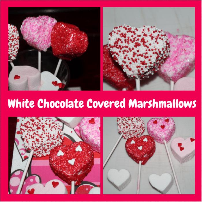 white chocolate covered marshmallows 700x700 Fun Kids Valentines Day Recipe: White Chocolate Covered Marshmallows